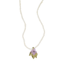 Lilac Pendant Adjustable Pearl Necklace | Michael Michaud Jewelry | 9105BZWP