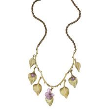 Lilac Multi Leaf Necklace | Nature Jewelry