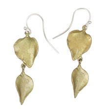 Lilac Double Leaf Wire Earrings | Michael Michaud Jewelry | 3206BZ