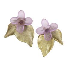 Lilac Flower Post Earrings | Nature Jewelry
