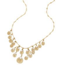Sea Scallop Adjustable Necklace with Pearls | Nature Jewelry