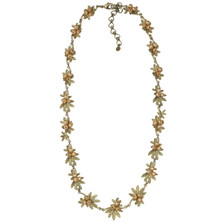 Tundra Rose Yellow Pearl Contour Necklace | Nature Jewelry