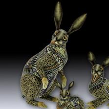 Rabbit Papa Figurine | FimoCreations | FCFBRP