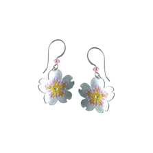 Cherry Blossom Flower Wire Earrings | Nature Jewelry