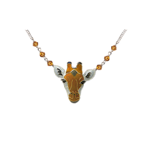 Giraffe Face Necklace | Nature Jewelry