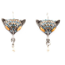 Fox Sparkly Eurowire Earrings  | Nature Jewelry