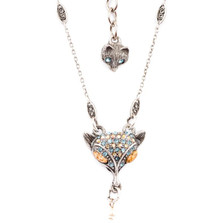 Fox Sparkly Pendant Necklace  | Nature Jewelry