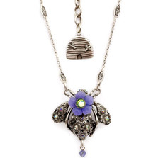 Bee Pendant Necklace    Nature Jewelry