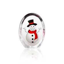 Snowman Painted Crystal Sculpture | 34257