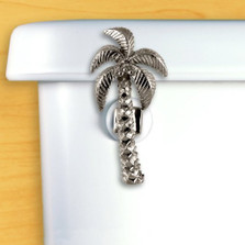 Palm Tree Toilet Flush Handle | Chrome