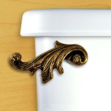 Acanthus Leaf Toilet Flush Handle | Antique Brass