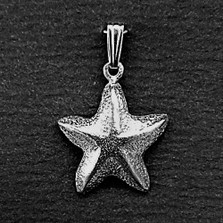 Starfish Pewter Small Pendant | Nature Jewelry