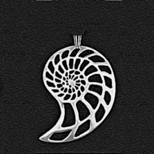 Nautilus Shell Large Pewter Pendant