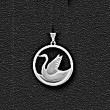 """Swan Pewter Large Pendant """"Cygnet"""""""