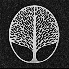 Tree of Life Pewter Pin   Nature Jewelry