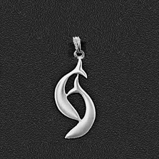 "Dolphin Pewter Small Pendant ""Harmony Bay"" 