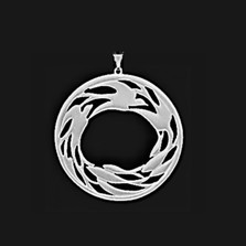 Circle of Life Pewter Pendant | Nature Jewelry