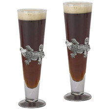Alligator Pilsner Glass Set of 2