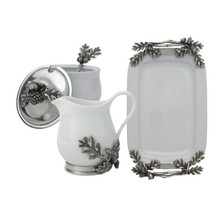 Acorn and Oak Leaf Creamer Set