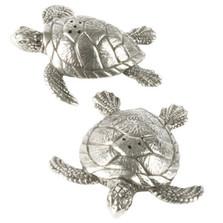 Sea Turtle Pewter Salt Pepper Shakers