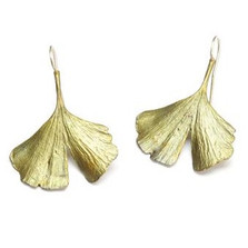 Gingko Wire Earrings | Michael Michaud Jewelry | SS4075bz -2