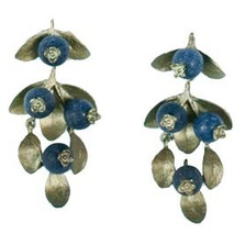 Blueberry Drop Earrings | Nature Jewelry