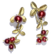 Cranberry Dangle Earrings   Nature Jewelry