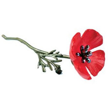 Red Poppy Pin | Nature Jewelry