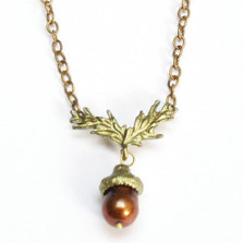 Acorn Chain Necklace | Nature Jewelry