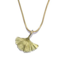 Gingko Single Leaf Pendant | Nature Jewelry