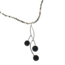 Blackcurrant Spiral Twist Pendant   Nature Jewelry