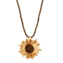 Sunflower Adjustable Brown Pearl Pendant | Nature Jewelry