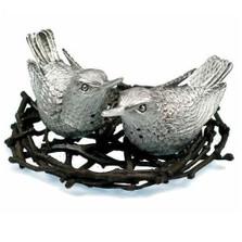 Hummingbird Pewter Salt Pepper Shakers