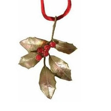 Holly Bronze Ornament