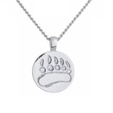Bear Print Necklace | Nature Jewelry