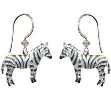 Zebra Cloisonne Wire  Earrings | Nature Jewelry