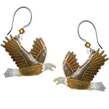 Eagle Cloisonne Wire Earrings | Nature Jewelry