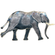 Walking Elephant Cloisonne Pin | Nature Jewelry