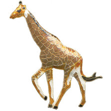 Giraffe Cloisonne Pin | Nature Jewelry