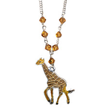 Giraffe Cloisonne Necklace | Nature Jewelry