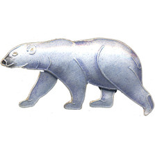 Polar Bear Cloisonne Pin | Nature Jewelry