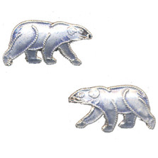 Polar Bear Cloisonne Post Earrings | Nature Jewelry