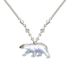 Polar Bear Cloisonne Small Necklace   Nature Jewelry