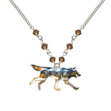 Wolf Cloisonne Necklace | Nature Jewelry