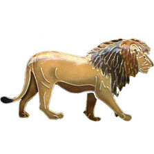 Lion Cloisonne Pin | Nature Jewelry