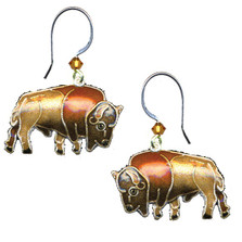 Buffalo Cloisonne Wire Earrings | Nature Jewelry