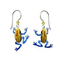 Tree Frog Swinging Wire Earrings | Nature Jewelry
