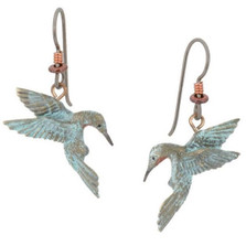 Hummingbird Heart Earrings | Nature Jewelry