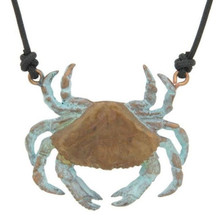 Dungeness Crab Pendant Necklace | Nature Jewelry