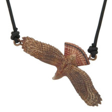 Red-Tailed Hawk Bronze Pendant Necklace | Nature Jewelry